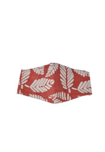 MAYONETTE red MAYONETTE Hijab Masker Batik Kain Katun Premium 3 PLY Headloop - Red - Dewasa - on-medis - high Quality CE87FES0EDA5ABGS_1