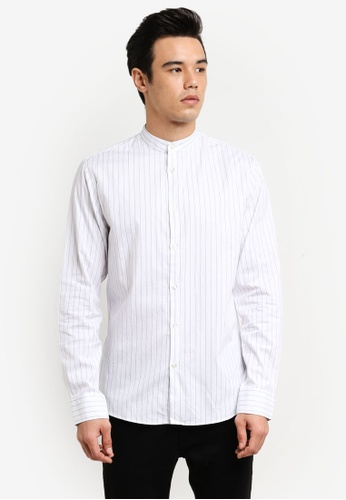Selected Homme white Striped Shirt SE364AA0RB4VMY_1