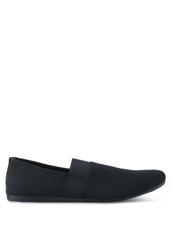 UniqTee black Classic Textile Loafers UN097SH0SYS4MY_1
