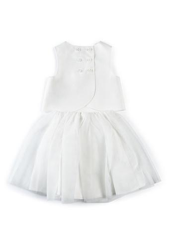 Mamas and Papas white Sateen Bodice Top & Skirt - 2 Piece Set 86289KAC6731BDGS_1