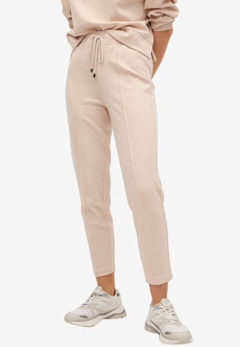 Mango beige Drawstring Jogger Trousers 62F97AAA2BF910GS_1