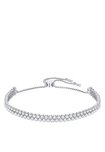Swarovski silver Subtle Double Bracelet 6F3D9ACEA91DD9GS_1