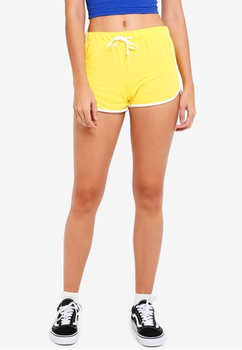 TOPSHOP yellow Sporty Neppy Runner Shorts 20888AA1A47CA4GS_1