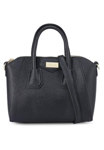 Mel&Co black Faux Leather Top Handle Satchel B845CAC9B1D1CDGS_1