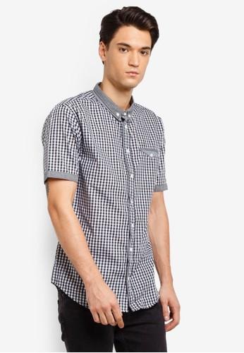 Brave Soul black Gingham Short Sleeve Shirt 6768CAA5202AA1GS_1