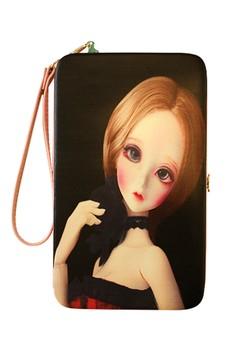 Short Hair Princess Universal Mobile Case / Wallet Card Holder