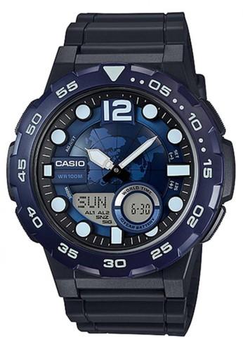 Casio black Casio Analog Digital Jam Tangan Pria - Hitam - Strap Karet -  AEQ- 1d5be5788f