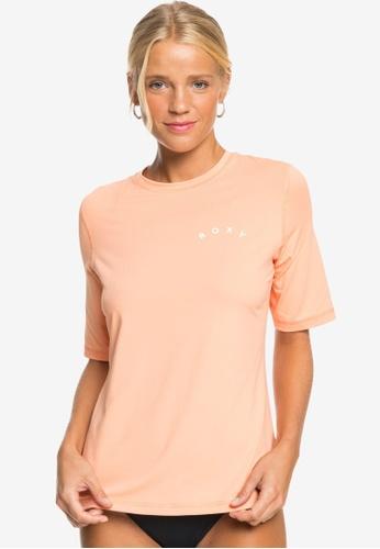 Roxy orange Enjoy Waves UPF 50 Surf T-Shirt A6103AAA1B71E0GS_1