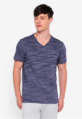 GAP navy Essential Vee Space Dye Tee 9551BAACE68CE3GS_1