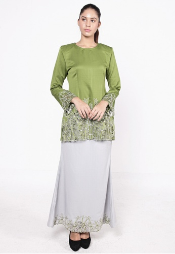 Bamboo Kurung Green from HESHDITY in Green