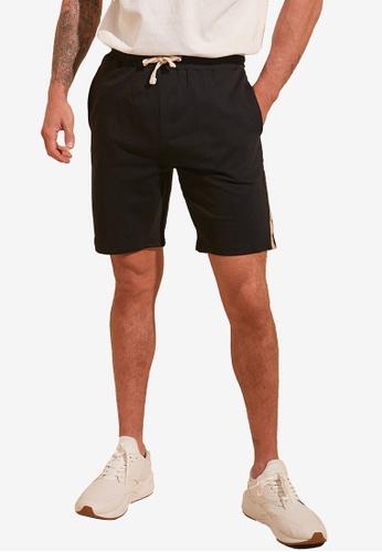 Trendyol black Banded Jogger Shorts A4FE9AA4962D5BGS_1