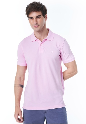 United Colors of Benetton pink Short Sleeves Cotton Polo 6129BAAD5ED23DGS_1
