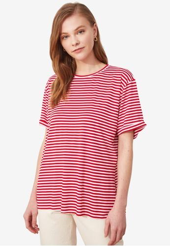 Trendyol red Stripe T-Shirt 0E0E5AA8ADEB3BGS_1