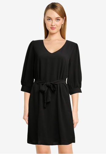 JACQUELINE DE YONG black Amanda 3/4 Puff Dress 146C7AA8D070C2GS_1