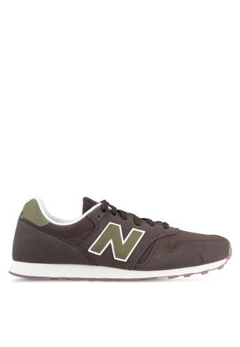 New Balance brown 373 Modern Classics Lifestyle Sneakers NE323SH0SS06MY_1