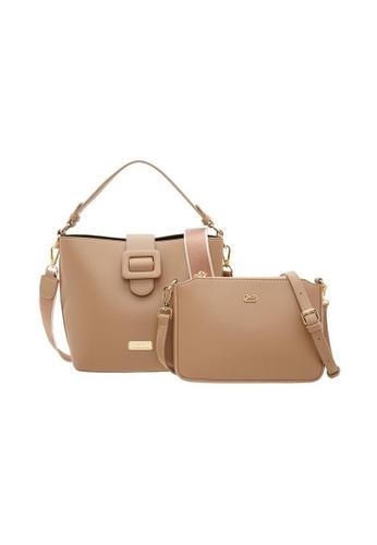 Valentino Creations brown Valentino Creations Genny Bucket Bag, Sling Bag Set AC752ACBC3D94CGS_1
