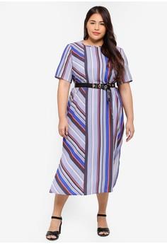 0ef9de6dcf7 LOST INK PLUS multi Plus Size Column Dress In Stripe 11E94AA856DAF7GS 1