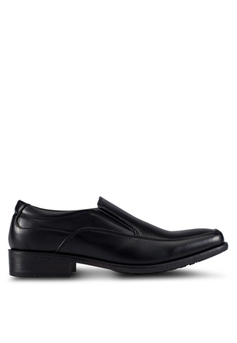 Louis Cuppers black Embossed Dress Shoes LO977SH0RX3RMY_1