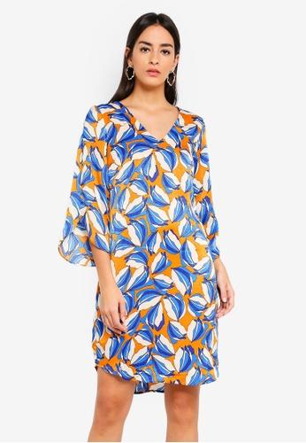 Vero Moda blue Raja 3/4 Dress 317F0AA0E0E279GS_1