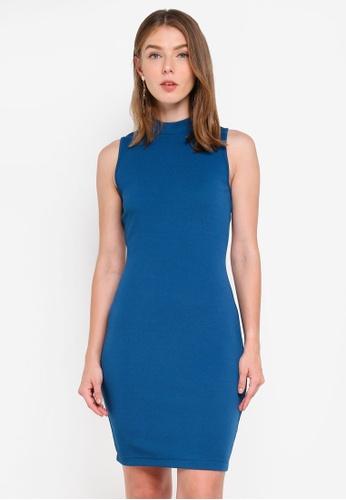 ZALORA green High Neck Bodycon Dress 065C2AA7716560GS_1