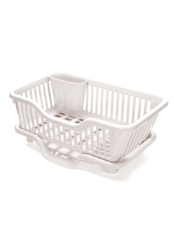 HOUZE white HOUZE - Dish Drainer with Centre Flow Tray 72D0DHL1B828D1GS_1
