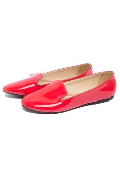 Paige Patent Loafer Red