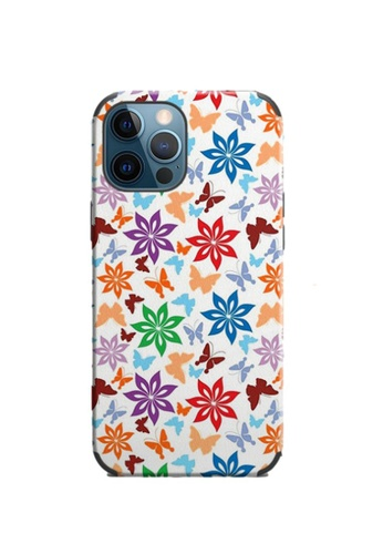 Kings Collection white Floral Pattern iPhone 12 Pro / 12 Case (KCMCL2407) 86C41AC844F66CGS_1