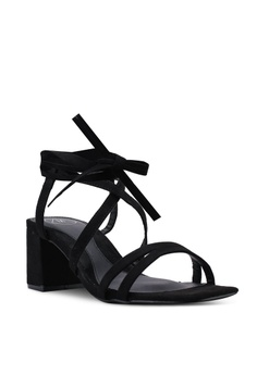 e2d3d60d1b4 10% OFF MISSGUIDED Two Strap Mid Heel Lace Up Sandals HK  309.00 NOW HK   277.90 Sizes 3 4 5 6 7