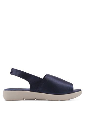 Bata 藍色 金屬感繞帶涼鞋 3EA4BSHD7677DBGS_1