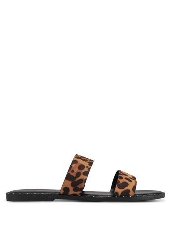 Dorothy Perkins brown Leopard Flynn Mule Sandals 185BFSHEBB4F3AGS_1