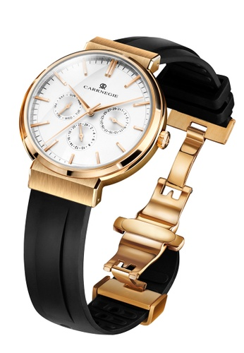 Carrnegie Watches white and multi and gold Carrnegie Watches Sports Rose Gold White 24331AC4963296GS_1