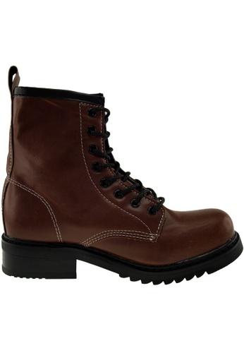 Maxstar Maxstar Women's 303 Lace Up Mid Calf PU Combat Boots US Women Size MA168SH72ZXRHK_1
