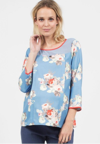 Bove by Spring Maternity multi Belen Woven Long Sleeved Printed Top ITN6101 SP010AA64SAPSG_1