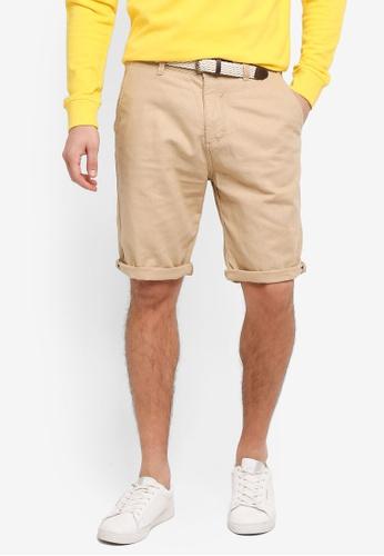 ESPRIT beige Woven Regular Shorts 14A83AA8616540GS_1