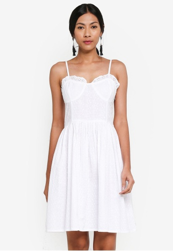 OVS white Lace Dress With Spaghetti Straps 43AFDAA21B9D19GS_1