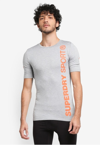 Superdry grey Sports Athletic Short Sleeve Tee SU137AA0T1VCMY_1