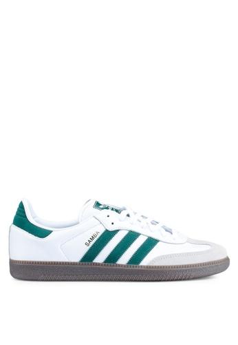 adidas white adidas originals samba og sneakers 4F93ASH50F4199GS_1