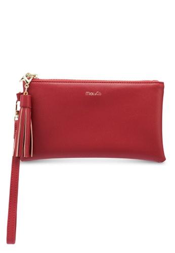 Mel&Co red Faux Leather Clutch Wristlet E9D16ACDCBB131GS_1