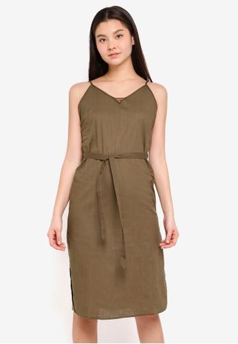 Cotton On brown Woven Marce Midi Slip Dress 160C4AAA08BE11GS_1