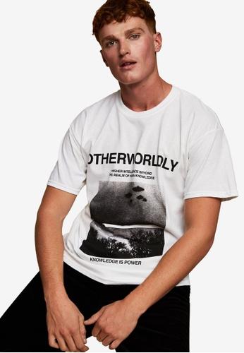 Topman white Metallica Other World T-shirt In White E126EAAAF9D241GS_1