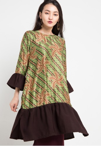 Anakara green and multi Long Tunic Starline 57222AA8E837C1GS_1