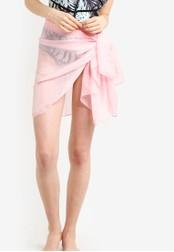 PINK N' PROPER pink Soleil Chiffon Beach Wrap PI108US85ZWWMY_1