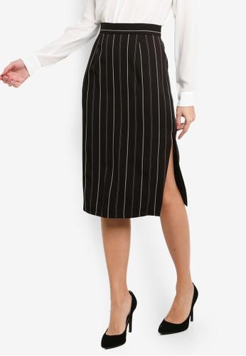 FORCAST black Stevie Side Slit Skirt 424F4AA7EA423EGS_1
