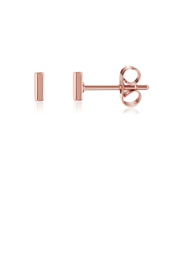 Glamorousky gold Fashion Simple Plated Rose Gold Letter I Stud Earrings 0CD81ACB17AF5CGS_1