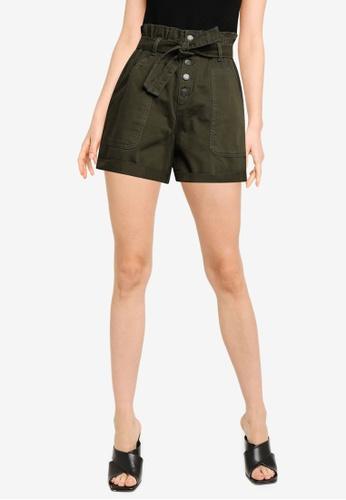 Banana Republic 綠色 Utility 領帶 腰圍 短褲 050BDAA8DA4011GS_1