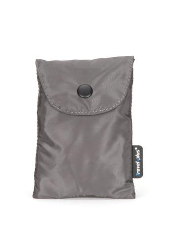 Travel Plus grey Geo Folding Tote Bag E06FFAC7616834GS_1