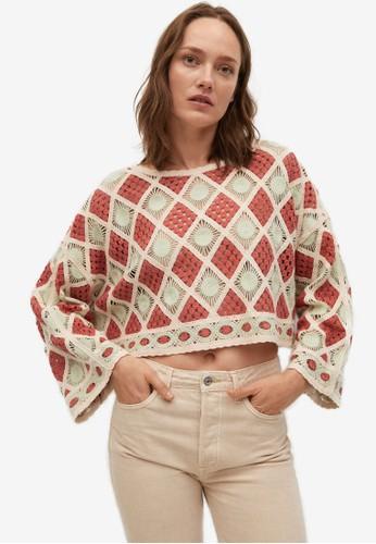 Mango red Crochet Crop Jersey B45F1AA1835C7EGS_1