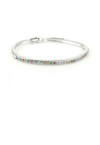 Glamorousky multi Elegant Bangle with Multi Color Austrian Element Crystals 046F4AC7A64DC5GS_1
