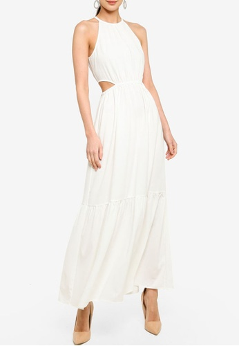 ZALORA OCCASION 白色 Cut Out Tiered Maxi Dress C19FCAA52DCCA0GS_1