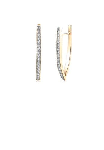 Glamorousky white Romantic Plated Champagne Gold Single Earrings with Cubic Zircon F99C3AC7525731GS_1